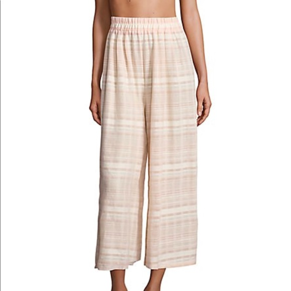Mara Hoffman Pants - Pink & White Striped Pants by Mara Hoffman Swim